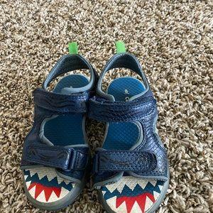 Carters light up shark sandals